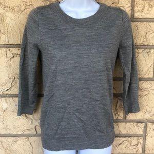 J Crew Gray 100% Wool Sweater Size XS